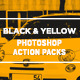 Black and Yellow Photoshop Action