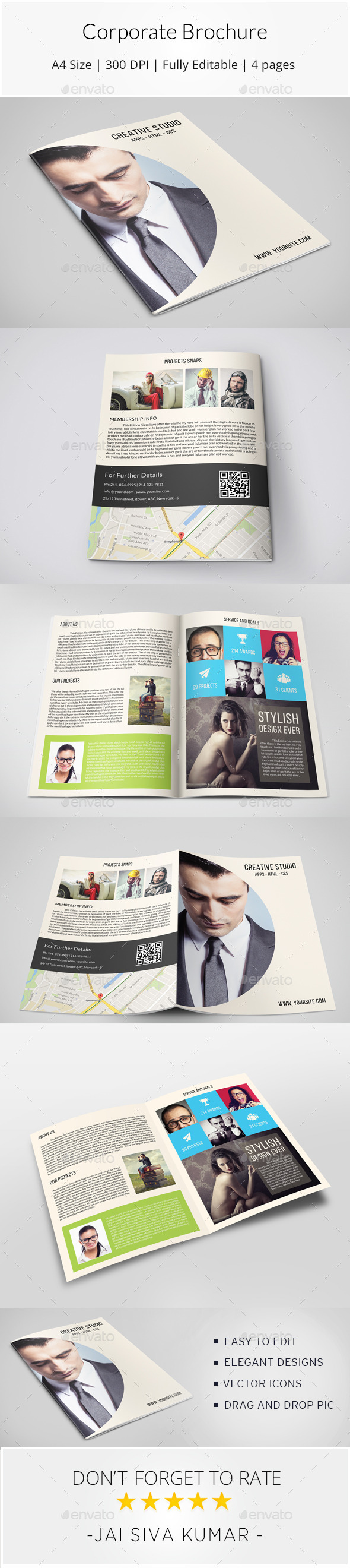 GraphicRiver Corporate Bifold Brochure 11337311