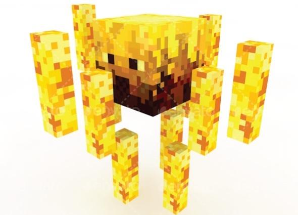 3DOcean Blaze Minecraft 11337385
