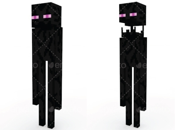 3DOcean Enderman Minecraft 11337435