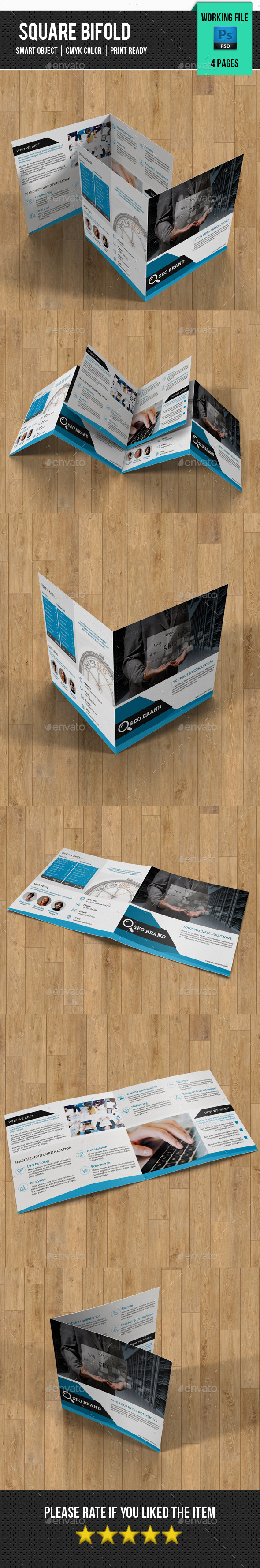 GraphicRiver Corporate Square Bifold-V24 11337437