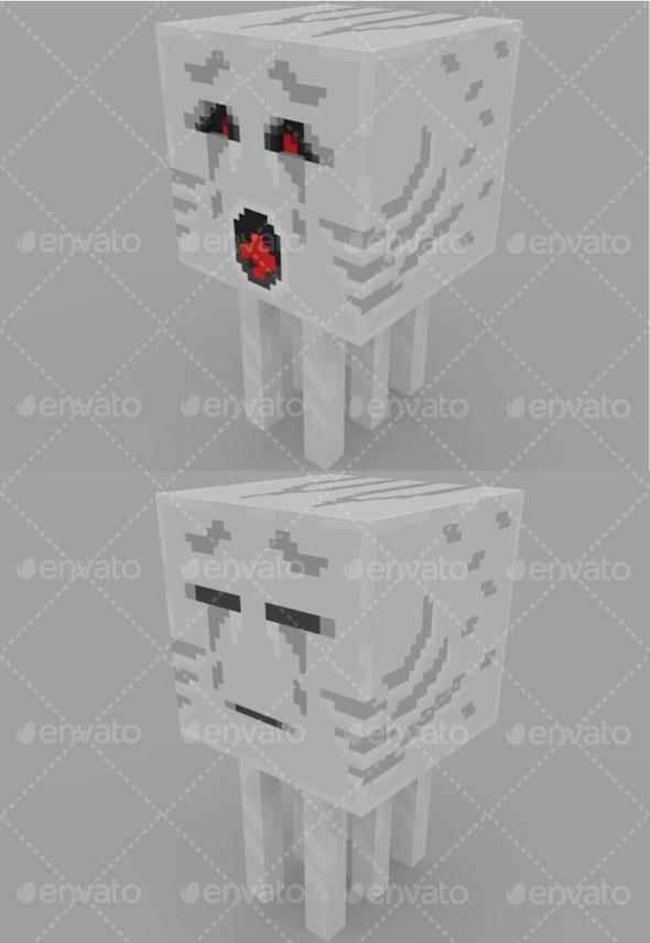 3DOcean Ghast Minecraft 11337442