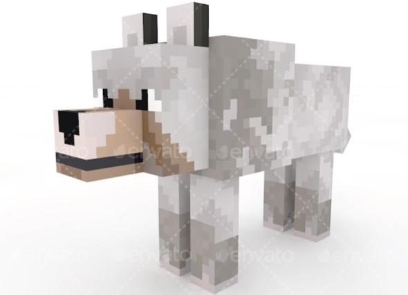 3DOcean Wolf Minecraft 11337448