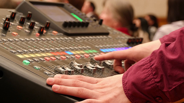 Professional Mixing Desk Sound Mastering