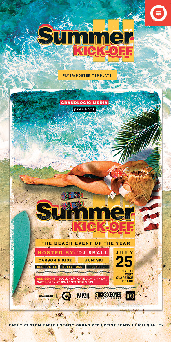 GraphicRiver Summer Party Flyer Poster 11337850