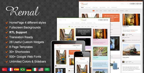 Remal - Responsive WordPress Blog Theme