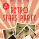 Retro Stars Party Club Rollup Banner 51 - GraphicRiver Item for Sale
