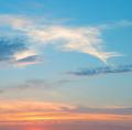 beautiful sunrise in the clouds - PhotoDune Item for Sale