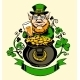 Leprechaun Standing Next to a Pot of Gold - GraphicRiver Item for Sale