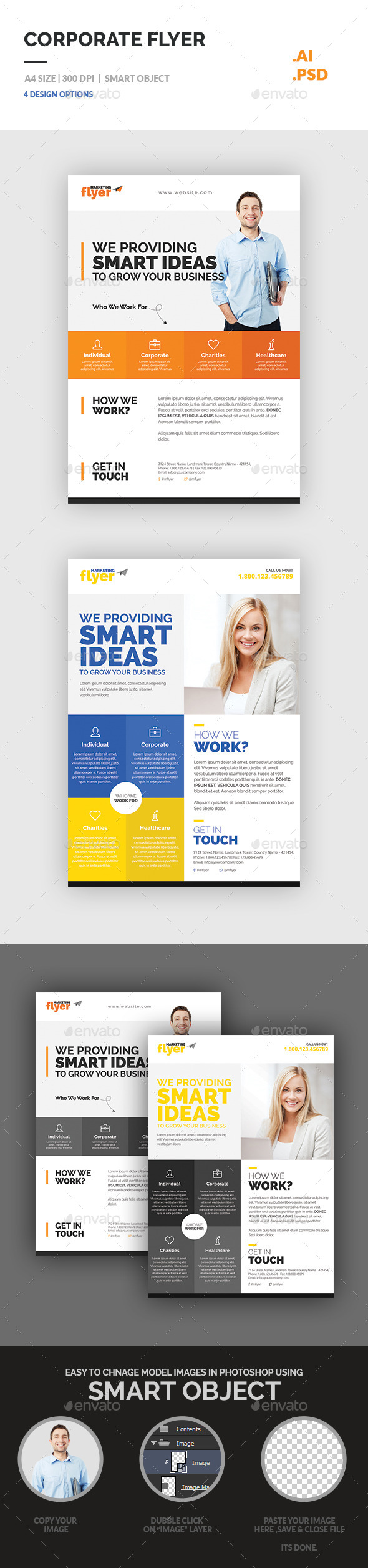 GraphicRiver Corporate Flyer 11338443