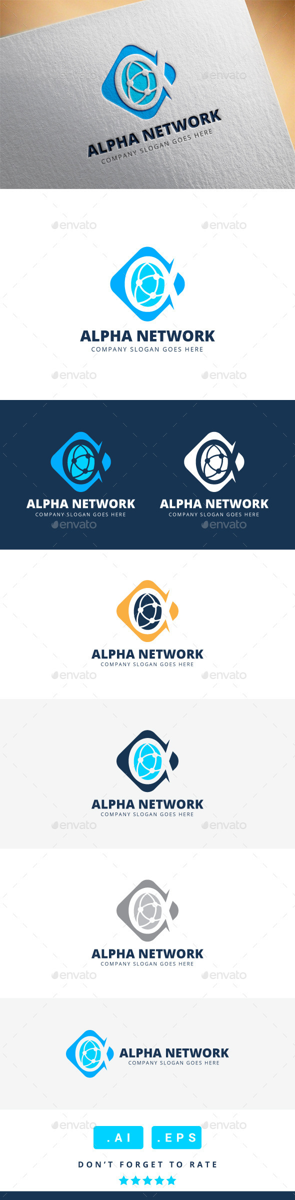 GraphicRiver Alpha Network Logo 11339182