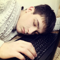 Teenager sleep on the Laptop - PhotoDune Item for Sale