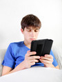 Young Man with Tablet Computer - PhotoDune Item for Sale