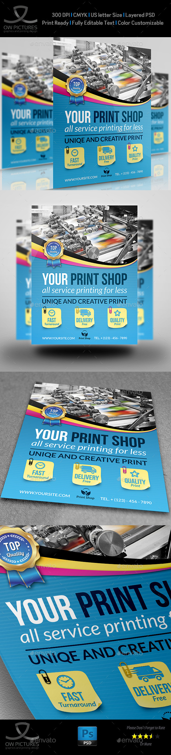 GraphicRiver Print Shop Flyer Template 11339617