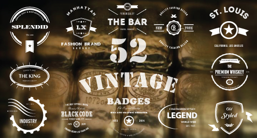 Retro Insignias - Vintage Logo & Badges