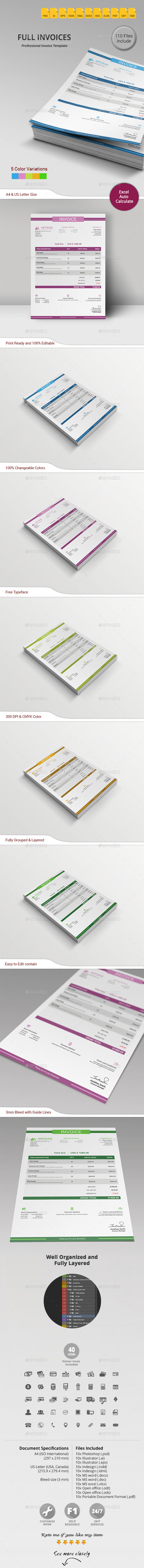 GraphicRiver Invoice 11339684