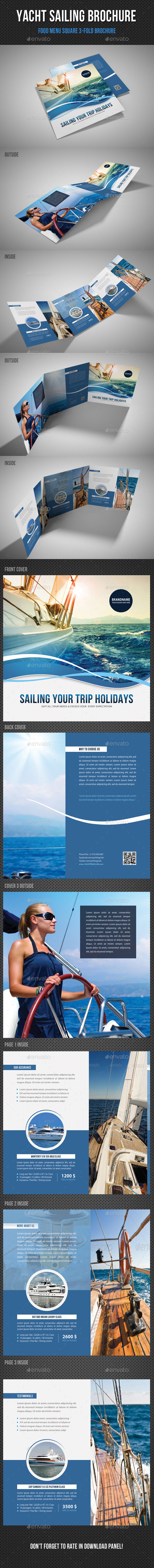 GraphicRiver Yacht Boat Sailing Square 3-Fold Brochure 02 11339703
