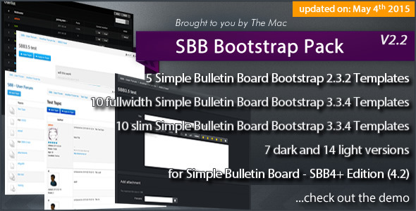 Simple Bulletin Board - SBB Bootstrap Pack - CodeCanyon Item for Sale