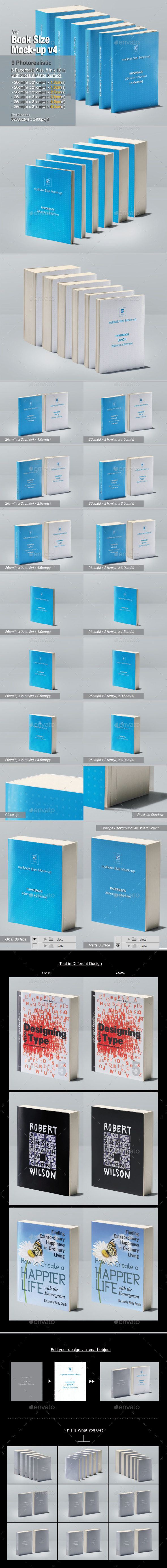 Graphicriver - myBook Size Mock-up v4 11340296