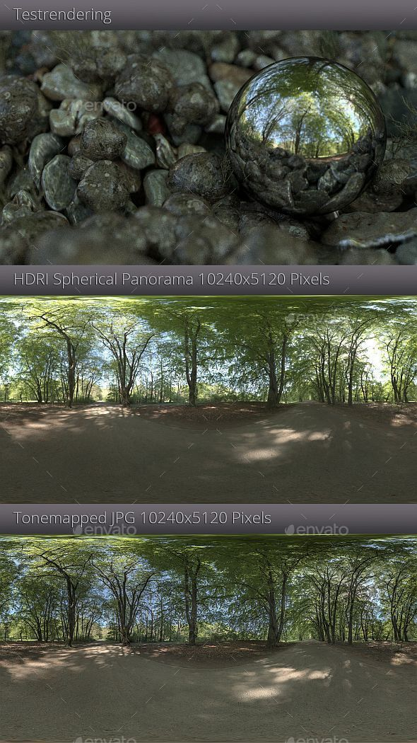 3DOcean HDRI Forest Trail 11340445