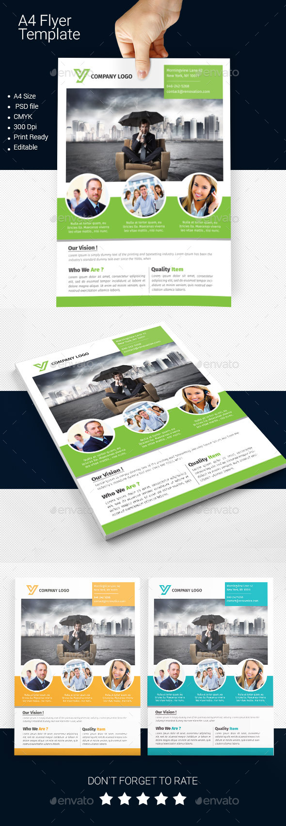 GraphicRiver A4 Business Flyer Template 04 11340942