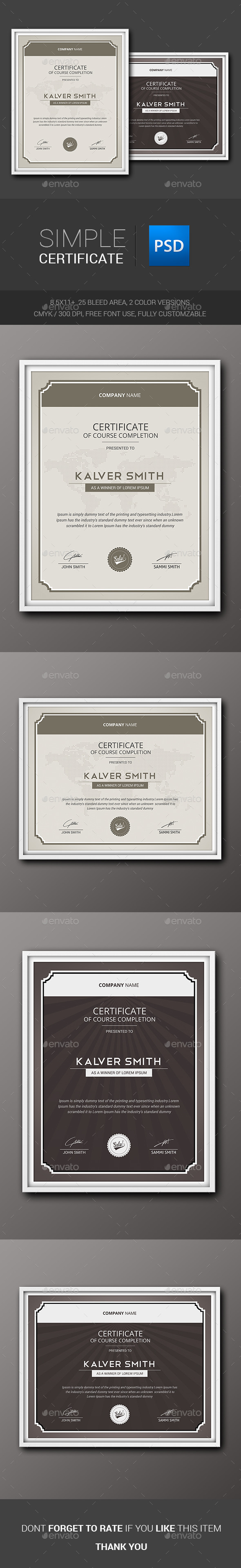 GraphicRiver Simple Certificate 11340950