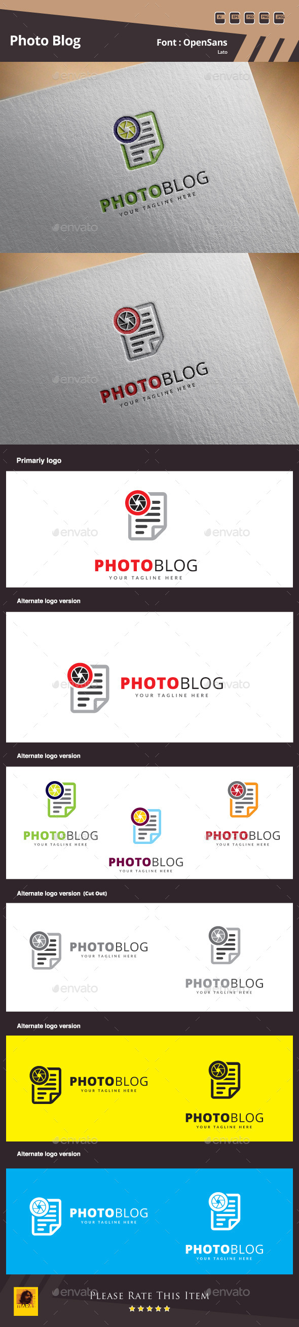 GraphicRiver Photo Blog Logo Template 11341173