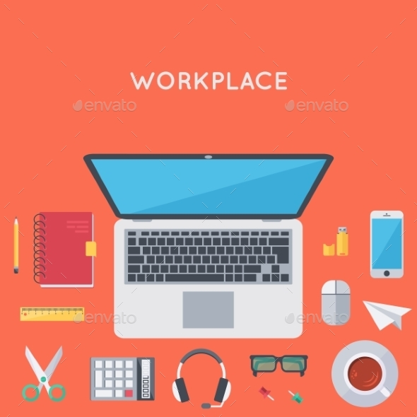 GraphicRiver Contemporary Workplace Background 11341421