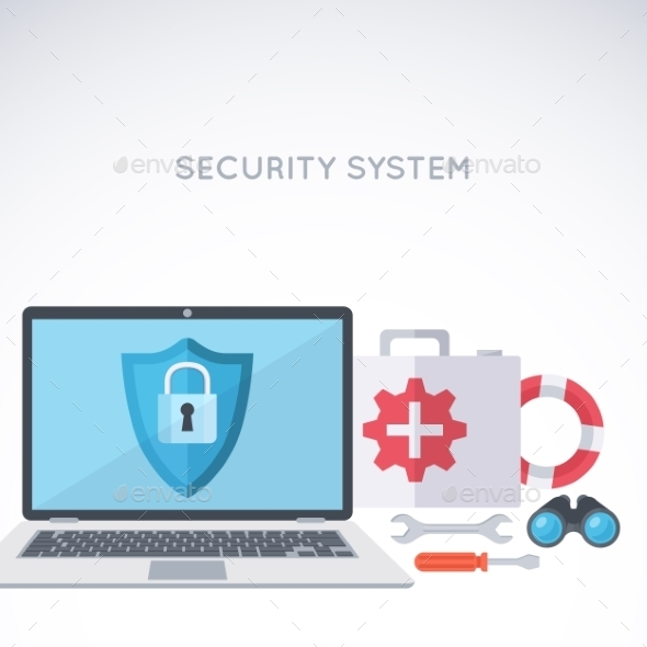 GraphicRiver System Security Background 11341422