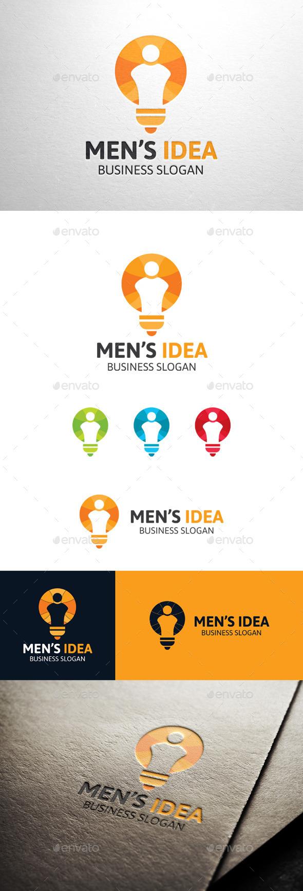 GraphicRiver Men s Idea Social Bulb Logo 11341499