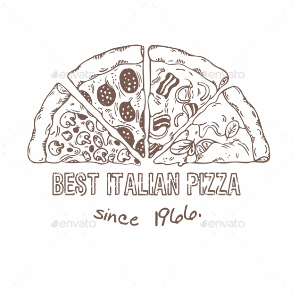 GraphicRiver Half of Pizza with Different Slices 11341583