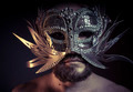 Treasure, jewels and silver. Man with mask of precious metals - PhotoDune Item for Sale