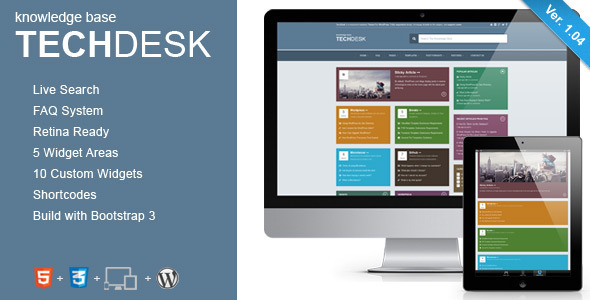 TechDesk - Responsive Knowledge Base/FAQ Theme - Miscellaneous WordPress