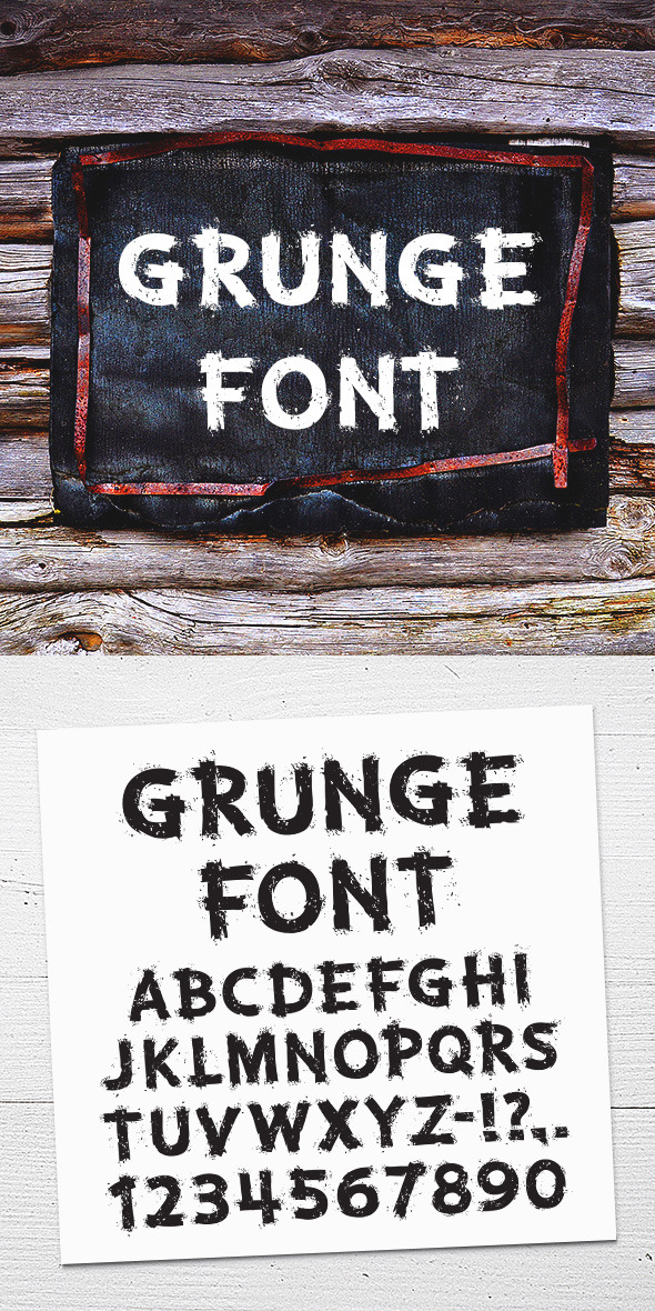 GraphicRiver Grunge Letters and Numbers 11341654