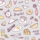 Hand Drawn Breakfast Seamless Pattern - GraphicRiver Item for Sale