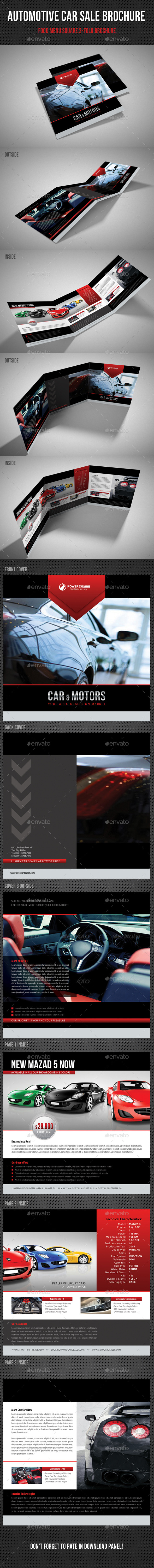 GraphicRiver Automotive Car Sale Square 3-Fold Brochure V01 11341821