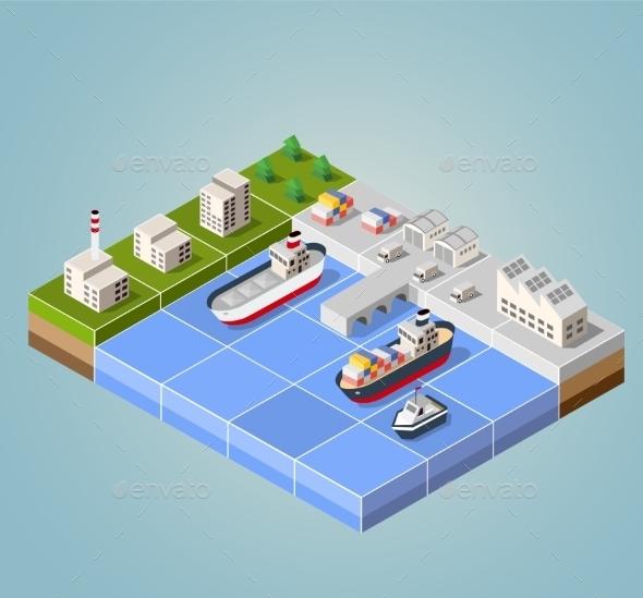 GraphicRiver Seaport 11342063