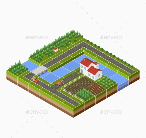 GraphicRiver Isometric Landscape 11342077