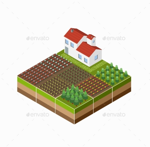 GraphicRiver Isometric Landscape 11342080