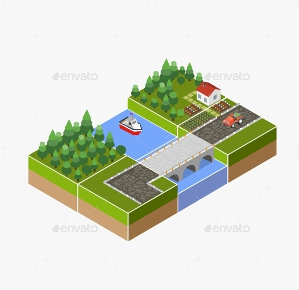 GraphicRiver Countryside Farm 11342083