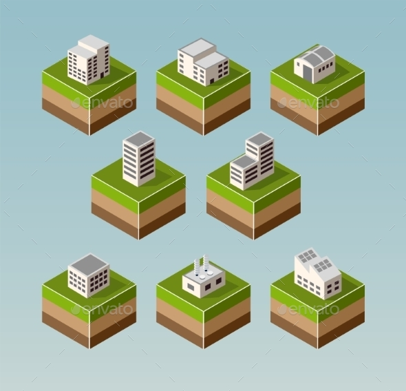 GraphicRiver Isometric Houses 11342087