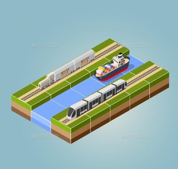 GraphicRiver High-Speed Train 11342092