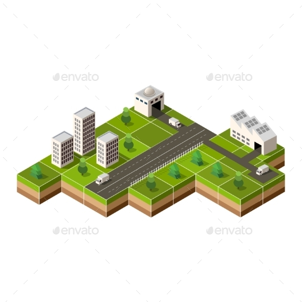 GraphicRiver Isometric City 11342098