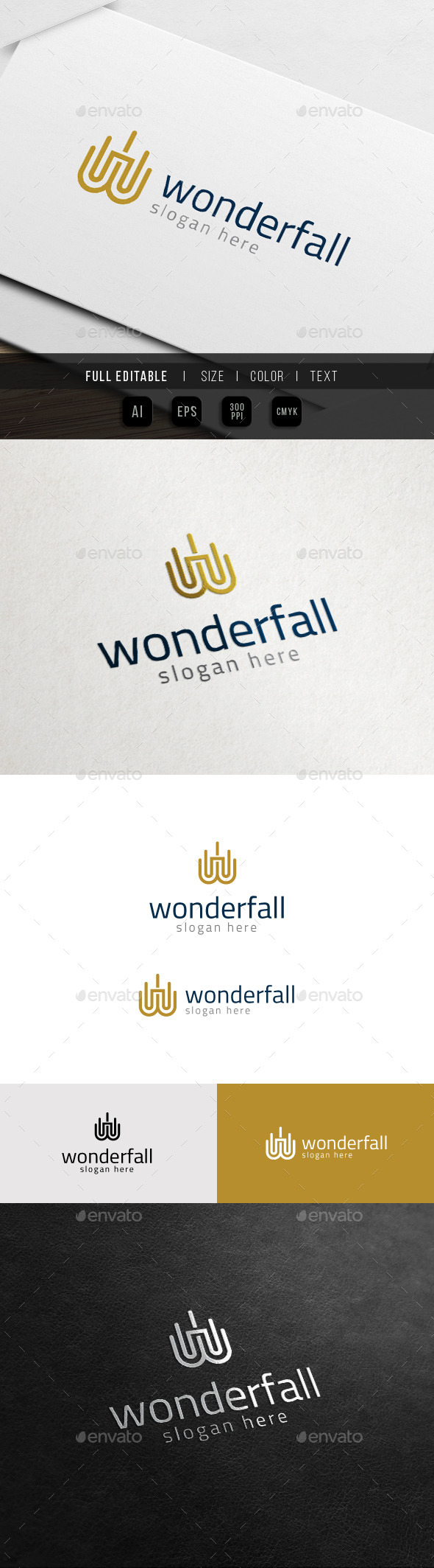 GraphicRiver Wonderfall Letter W Logo 11342101