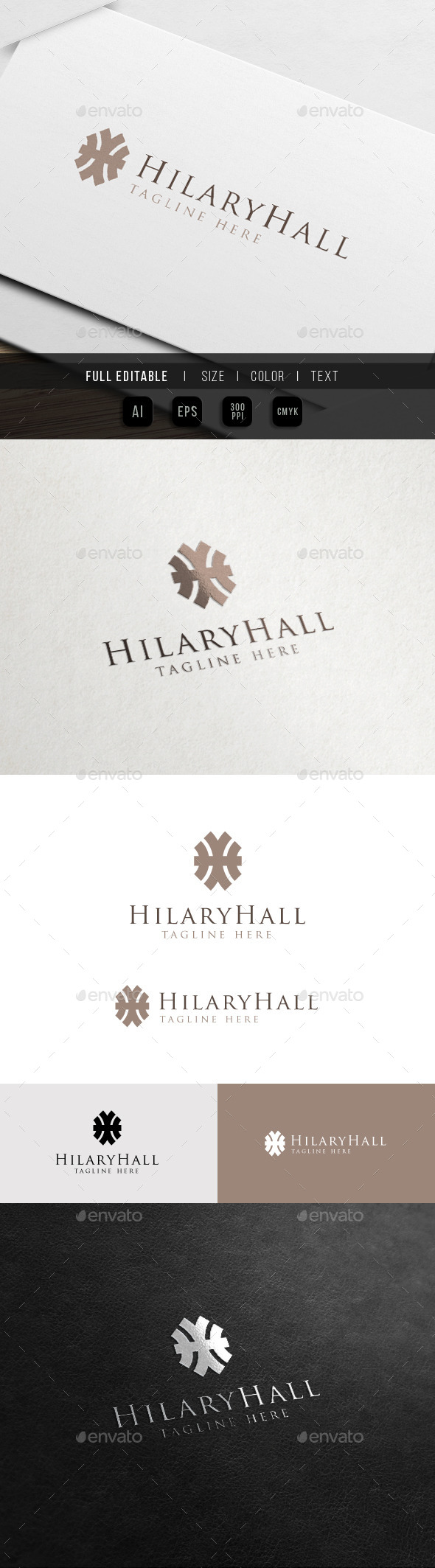 GraphicRiver Hotel Hall Luxury Brand H Logo 11342113