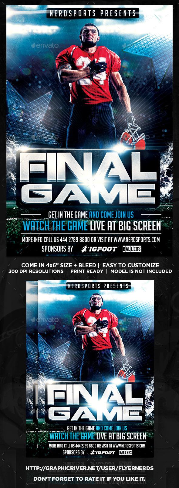 GraphicRiver Final Game Football Sports Flyer 11342146