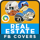 Real Estate Facebook Covers - 5 Colors - GraphicRiver Item for Sale