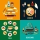 Set of Flat Food Infographics - GraphicRiver Item for Sale