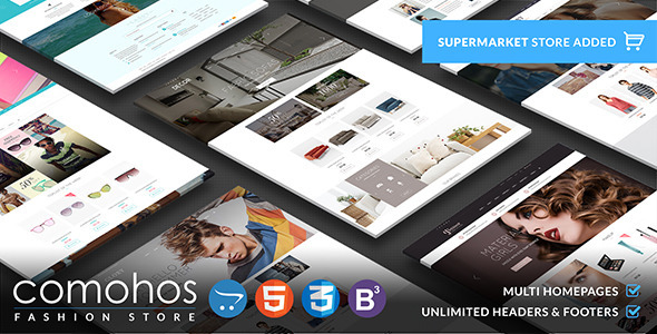 ThemeForest Comohos Multipurpose Responsive OpenCart Theme 11342350