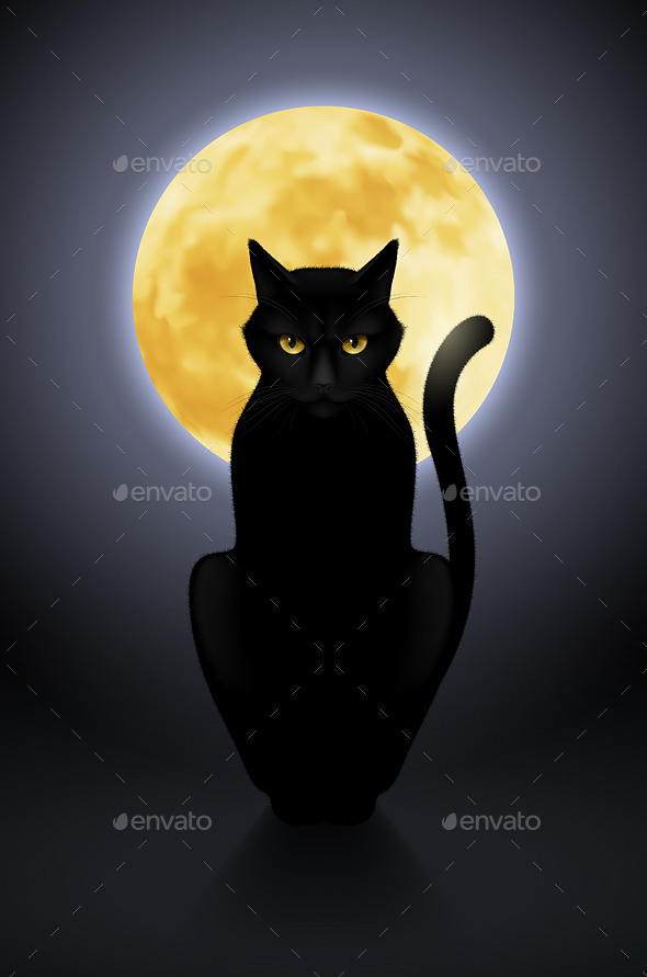 GraphicRiver Black Cat 11342498